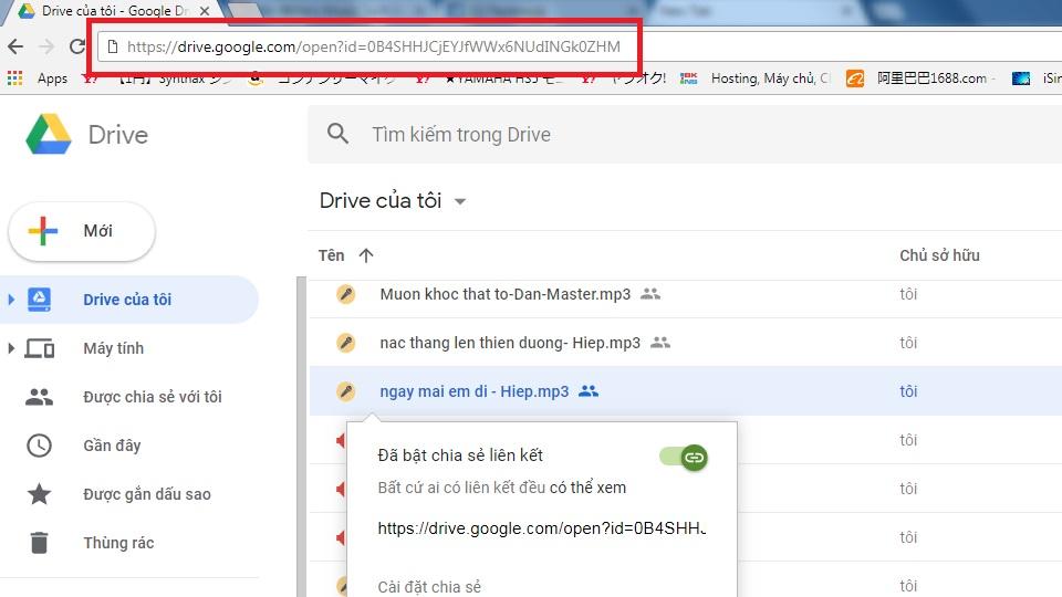mã nhúng google drive vào web